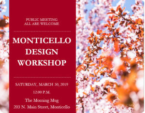 Monticello Design Workshop @ The Morning Mug