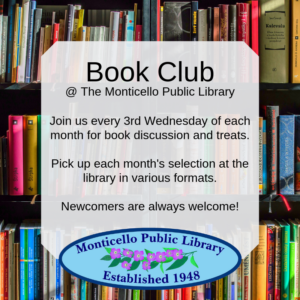 Monticello Library Book Club @ Monticello Public Library | Monticello | Wisconsin | United States