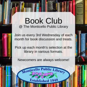 Monticello Library Book Club @ Monticello Public Library