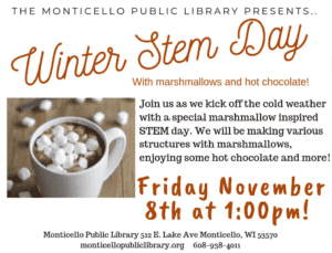 Monticello Public Library-STEM Day Event @ Monticello Public Library