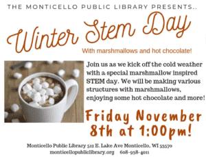 Monticello Public Library-STEM Day Event @ Monticello Public Library