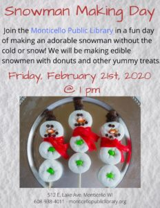 Snowman Making Day @ Monticello Public Library