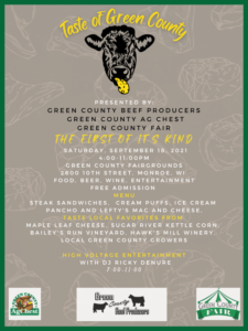 Taste of Green County @ Green County Fairgrounds   Monroe   Wisconsin   United States